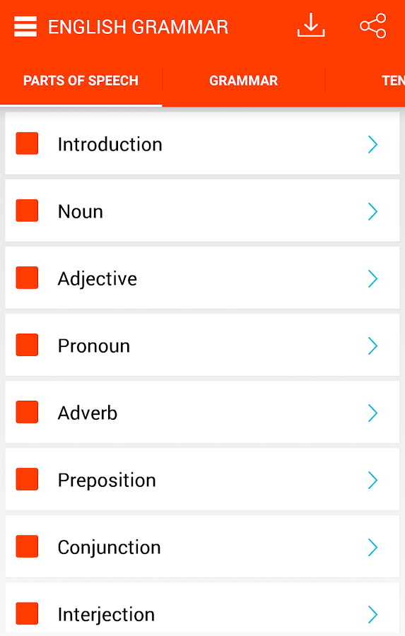 English Grammar Screenshot 0