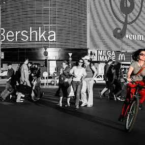 Bershka on the bike by Cretu Stefan Daniel - Products & Objects Signs