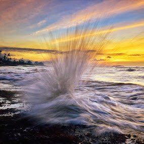 Higher by Hendri Suhandi - Landscapes Beaches ( bali, splash, wave, sunrise, beach )