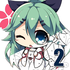 Anime II - Paint by Number Girls n Boys For PC / Windows 7/8/10 / Mac – Free Download