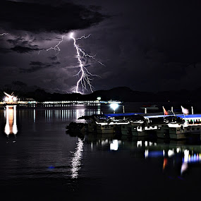 lightning and eagle by Acai Ibrahim - Landscapes Starscapes ( night, lights )