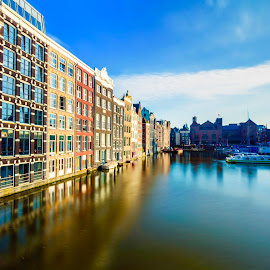Damrak Amsterdam by Bernard Tjandra - City,  Street & Park  Historic Districts