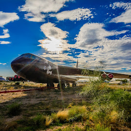 Vintage B-52 Buff Grounded by Ralph Resch - Transportation Airplanes ( air force, vintage, bomber, aircraft, b-52 )