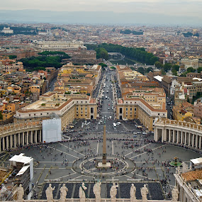 Vatican from St. Peter Cathedral  by Diana Garbacauskiene - Buildings & Architecture Public & Historical ( city landscape, rome, scenic view, architecture, vatican, italy, panorama )