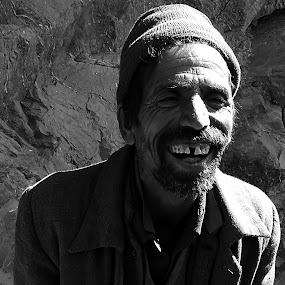 Smile... by Avijit Basak - City,  Street & Park  Street Scenes ( mountain, cold, shadow, smile, man )