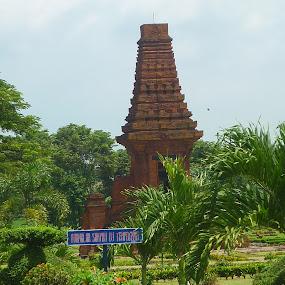 Split gate of the Majapahit Kingdom by Wayne Duplessis - Buildings & Architecture Public & Historical ( magic, indonesia, legend, empire, majapahit, java, split gate, trowulan )