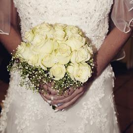 Flowers  by Vanessa Phillips - Wedding Bride ( bouquet, wedding day, wedding, wedding dress, veil, flower )