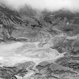 C * R * A * T * E * R by Adhi Rachdian - Nature Up Close Rock & Stone ( crater, volcano, black and white, bw, caldera )