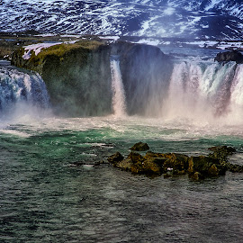 Goðafoss waterfall by Stanley P. - Landscapes Waterscapes ( waterfall, waterscapes, landscapes )