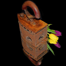 old iron with tulips by LADOCKi Elvira - Artistic Objects Other Objects