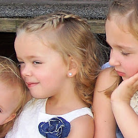 Three Adorable Sisters by Cheryl Korotky - Babies & Children Child Portraits