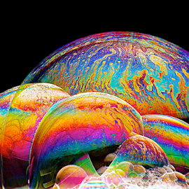 Bubbles by Bill Meyers - Abstract Patterns ( co;or bubbles colorful )