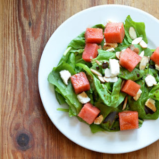 Watermelon and Feta Spinach Salad