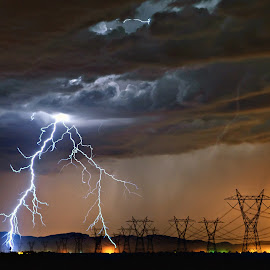 by Steven Love - Landscapes Weather ( thunder, wind, forked, desert, monsoon, storm, steel )