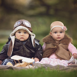 by Lucia STA - Babies & Children Babies ( babies, pilot, dress up, cute, twins )