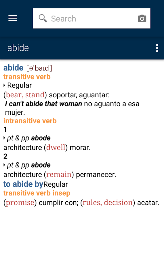Vox Advanced English<>Spanish Screenshot 2