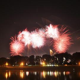 by Zeljko Kliska - Abstract Fire & Fireworks ( abstract, fireworks, festival, night, zagreb )