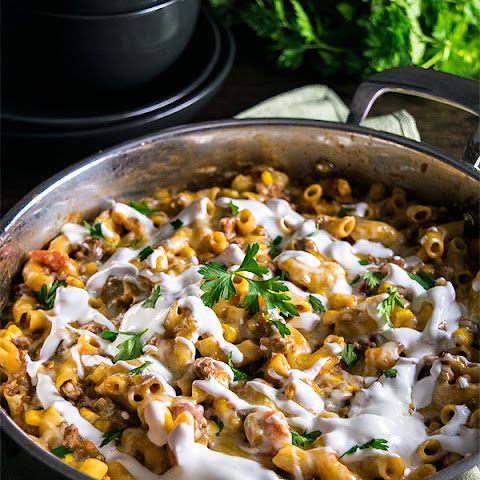 One Pan Cheesy Taco Skillet