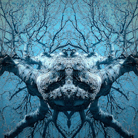 Tree deity by Stuart Gallagher - Digital Art Abstract ( fantasy, abstract, nature, tree, creature, manipulation )