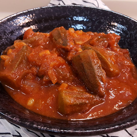 Middle Eastern Baby Okra In A Tomato Stew