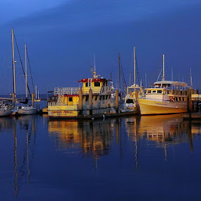Go Fish by Ivy Luna - Transportation Boats ( boat, reflection, reflections, mirror,  )