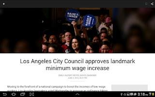 Screenshot of LA Times