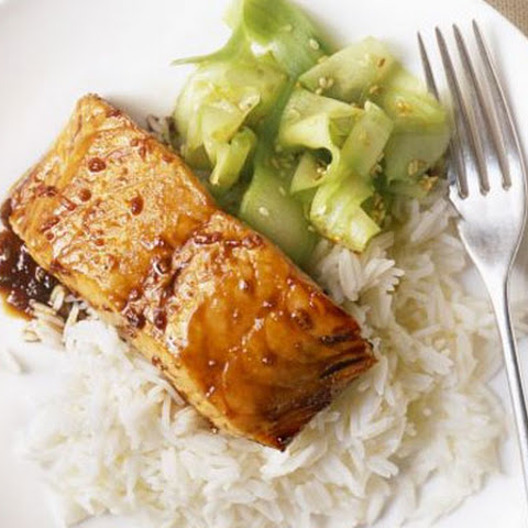 Grilled Salmon Recipe with Teriyaki Sauce