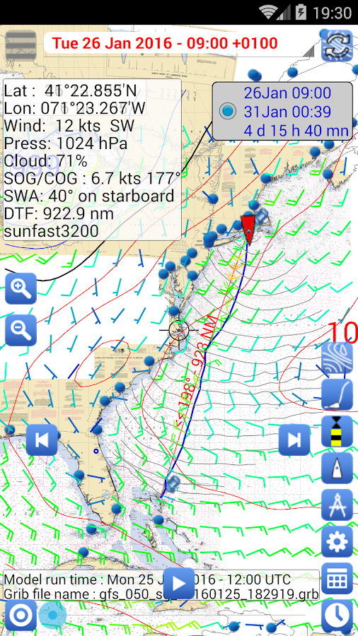 Weather - Routing - Navigation Screenshot