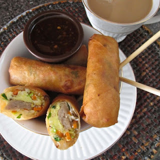 Egg and Sausage Brunch Spring Rolls