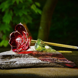 flowers of glass by Lavonne Ripley - Artistic Objects Glass