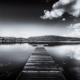 Solitude by Linda Karlin - Black & White Landscapes ( sky, b&w, clouds, landscape )