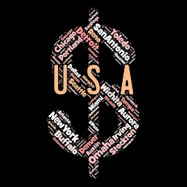 Word cloud to USA's cities by Alesanko Rodriguez - Typography Words ( abstract, word cloud, usa's cities, art, illustration, background, beauty, usa, newyork, design )