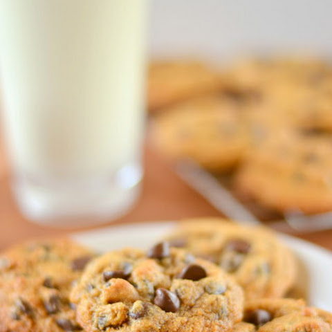 Thick and Chewy Whole Wheat Chocolate Chip Cookies