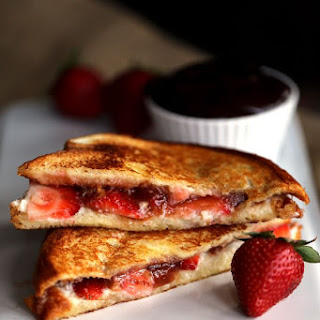 Strawberry Rhubarb Grilled Cheese