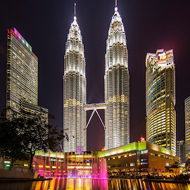 The Tallest twin tower by Biman Sarkar - City,  Street & Park  City Parks ( klcc, the tallest twin tower, fountain, twin tower, petronas twin tower, kl )