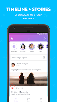Hike Messenger APK screenshot thumbnail 2