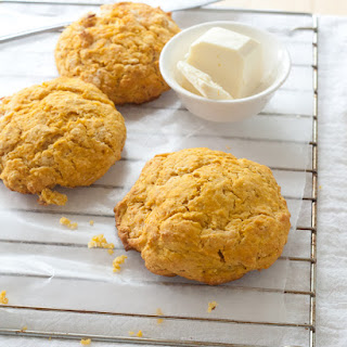 Pumpkin Cider Biscuits with Cornmeal