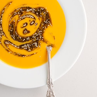 Sweet Potato Soup With Za'atar Oil