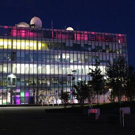 bbc by Irene McDonald - Buildings & Architecture Office Buildings & Hotels ( lights, building, bbc studio, glasgow, bright colours )