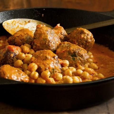 Lamb Meatballs with Red Pepper and Chickpea Sauce