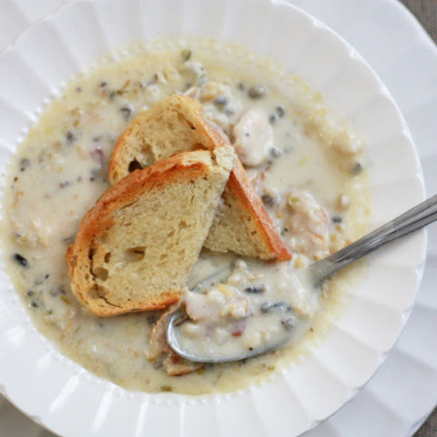 Chicken and Bacon Wild Rice Soup