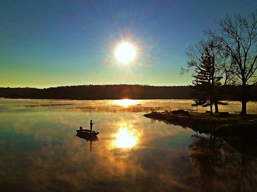 by Lori Taylor - Instagram & Mobile iPhone ( nature, boats, lake, sunrise, fishing, people )