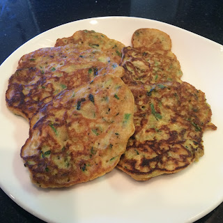 Zucchini and Korean Leek Whole Wheat Pancakes