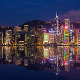 Hong Kong Skyline by Dmitriy Andreyev - City,  Street & Park  Skylines