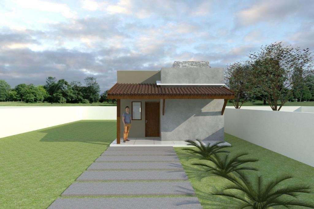 Casa com 2 dormitórios à venda, 70 m² por R$ 165.000 - Praia do Amor - Conde/PB