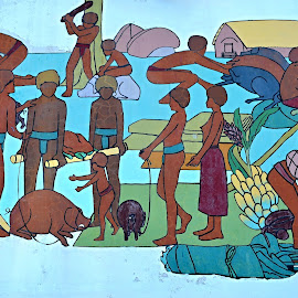 Local Artist from Vanuatu. by Marcel Cintalan - Painting All Painting ( picture, vanuatu, traditional art, local artist, painting )