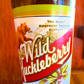 Wild Huckleberry Wheat Lager by Rita Goebert - Food & Drink Alcohol & Drinks ( glacier national park; refreshments; wild huckleberry flavor; wheat lager; alcoholic beverages; adult beverages;, the great northern brewing company; montana; )