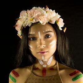 BriiBriiZee by Jim Nethercott - People Portraits of Women ( photo model, muse, piercing, beauty, body paint, asian girl )