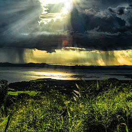 Rain Ahead by Ynon Francisco - Landscapes Weather ( clouds, mountain, sunset, lake, skies )