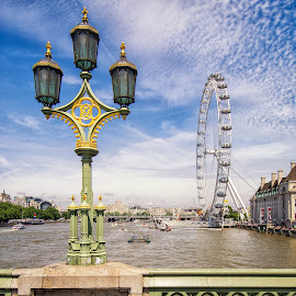 Old and new.  The London Eye. by Graeme Hunter - Buildings & Architecture Public & Historical